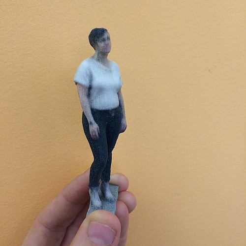 Object of the day: mini-me in 3D! #3dselfie #shapeways