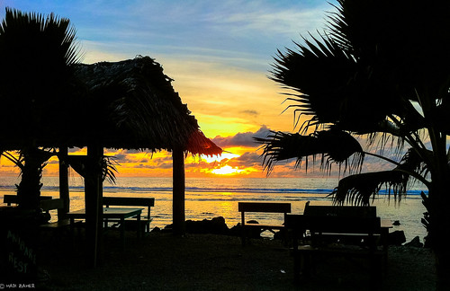 summer sun tree beach clouds sunrise bench dawn lights restaurant shadows seat silhouettes tranquility calm palm hut tropical tropic nauru restfulness anibare