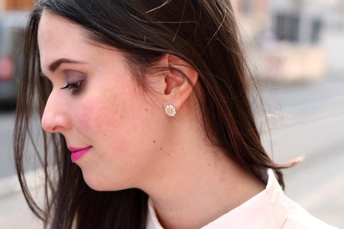 daisy earrings h&m