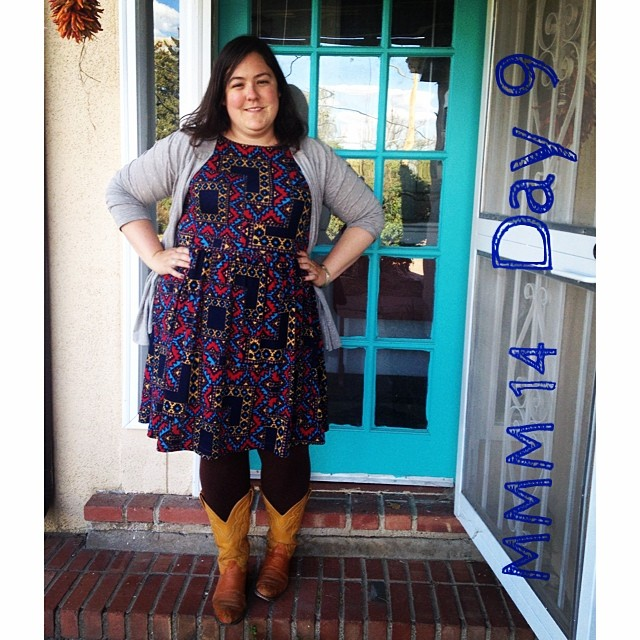 #mmmay14 #memademay day 9! New @colettepatterns #moneta . Two this week! Also me made leggings and my favorite cowboy boots.