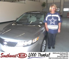 #HappyAnniversary to Eva Giddens on your 2012 #Kia #Forte from Stanley Bowie at Southwest Kia Dallas!