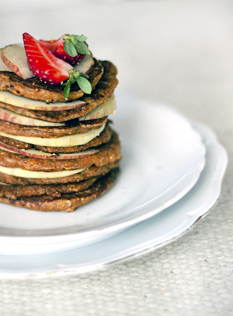 carrot pancakes tall