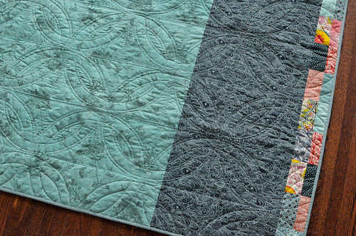 Double Wedding Ring Quilt Back