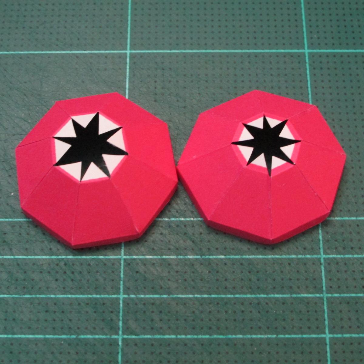 วิธีทำโมเดลกระดาษตุ้กตาคุกกี้รัน คุกกี้รสสตอเบอรี่ (LINE Cookie Run Strawberry Cookie Papercraft Model) 035