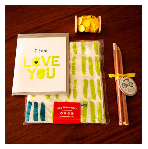 Green and Yellow Gift Items