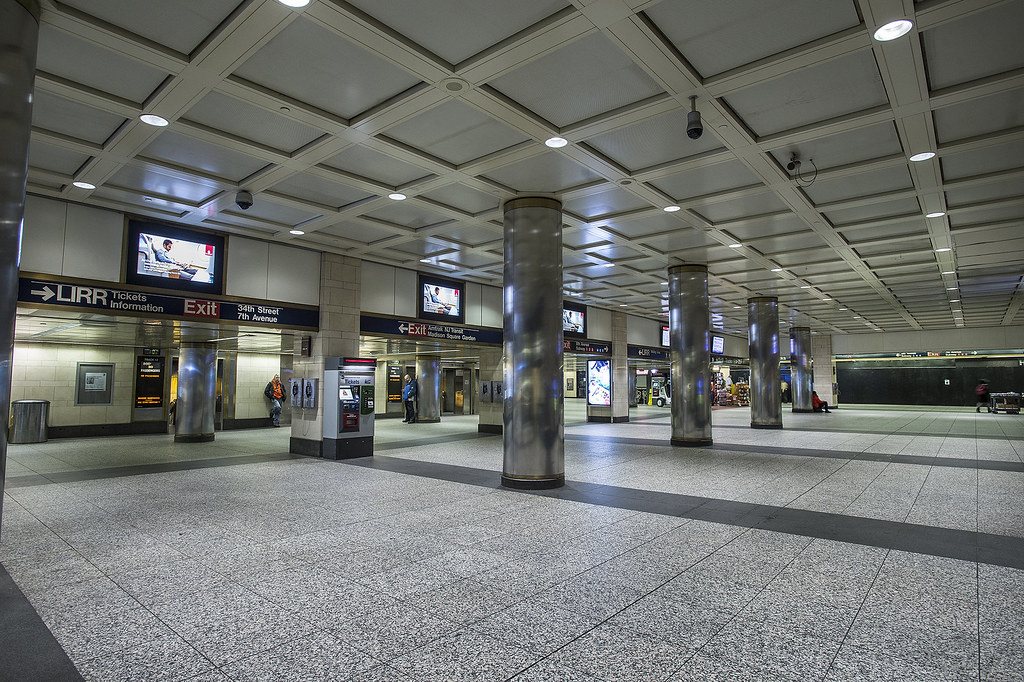 Blizzard of 2015: Empty Penn Station