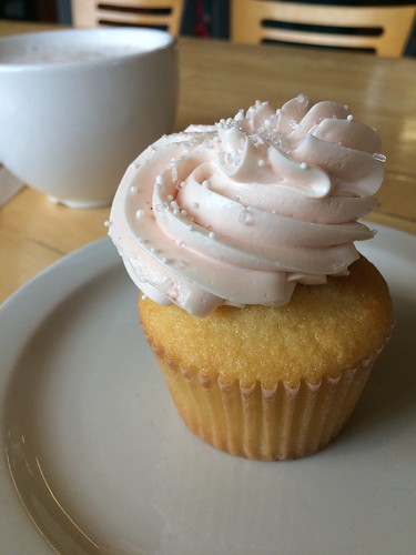 pink champagne cupcake at New Cascadia Traditional_ gluten-free Portland Oregon