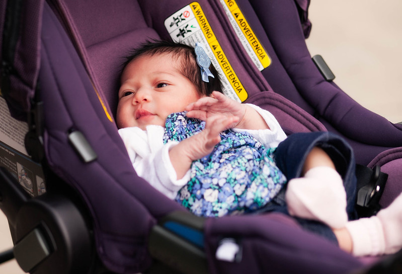 https://cuteandlittle.com | fashion lifestyle blog | nuna pipa carseat blackberry | carters baby spring floral outfit
