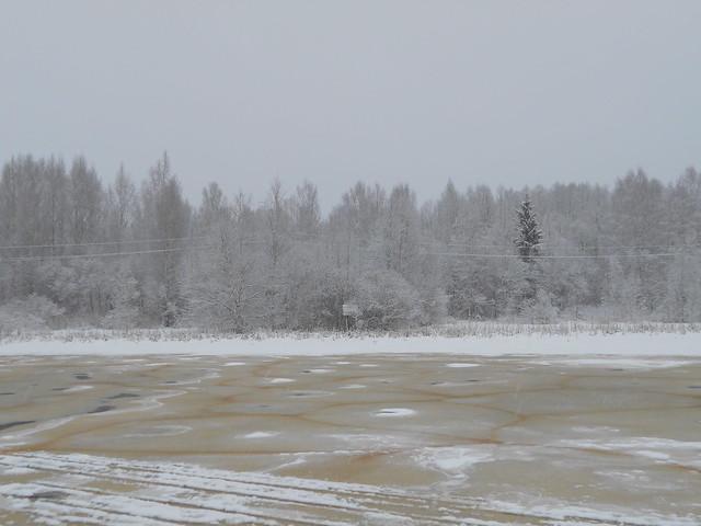Luminen maisema Varikonniemelle Hämeenlinnassa 2.2.2015