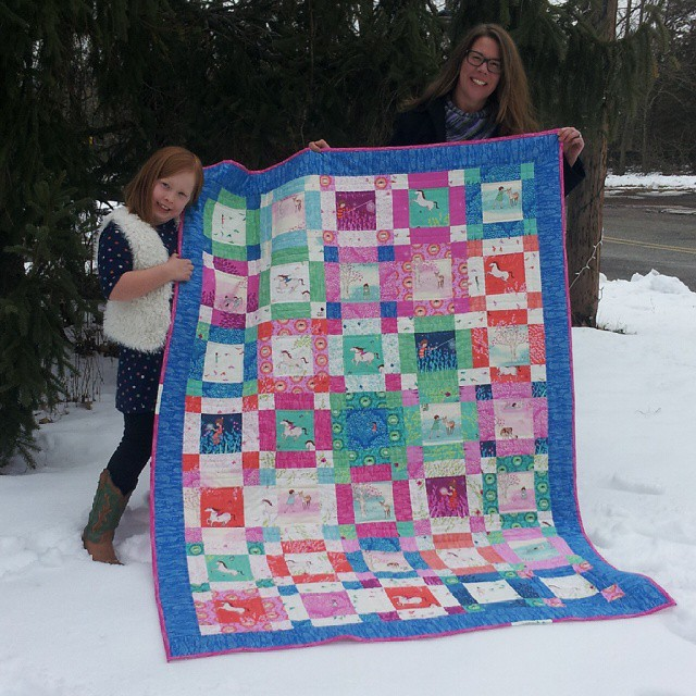 Finished! I am so excited to have finished my #weewander quilt. I know my daughter will love it forever. With@sarahjanestudios gorgeous fabric how could you go wrong? #quilting #quilt
