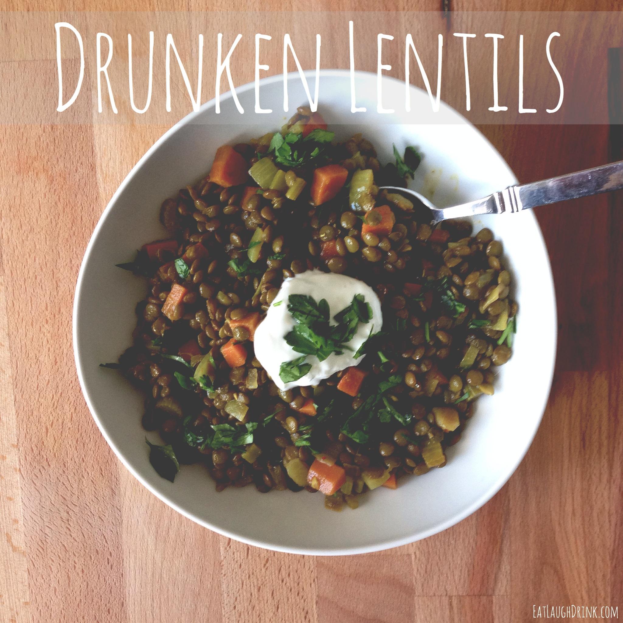 Drunken Lentils - Easy Clean Eating Meal