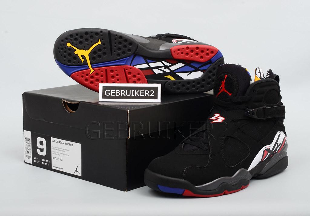 d1a99dabdbd Nike Air Jordan 8 VIII Retro 'Playoff' Black Varsity Red Sz US 8 5 13 Aqua  | eBay