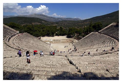 europe theatre stage greece epidavros argolida peleponnesos openairtheatre asclepeion polikleitos