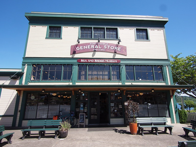 Port Gamble General Store: I had to rest here while the copious amounts of water I drank worked its way into my system.