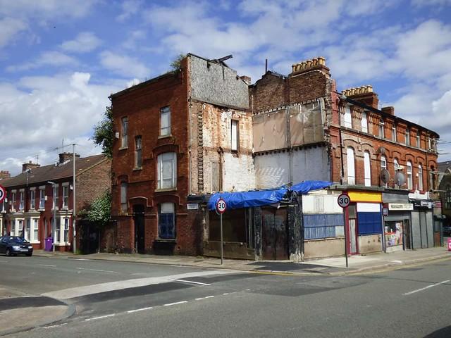Derelict shop, Admiral St, Toxteth.
