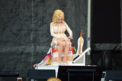 Dolly Parton On Her Pedestal
