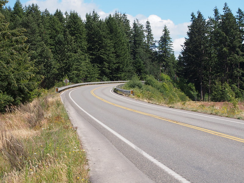 Rainier Road SE: I took this route instead of the Chehalis Western Trail, and it cut straight through some JBLM land.