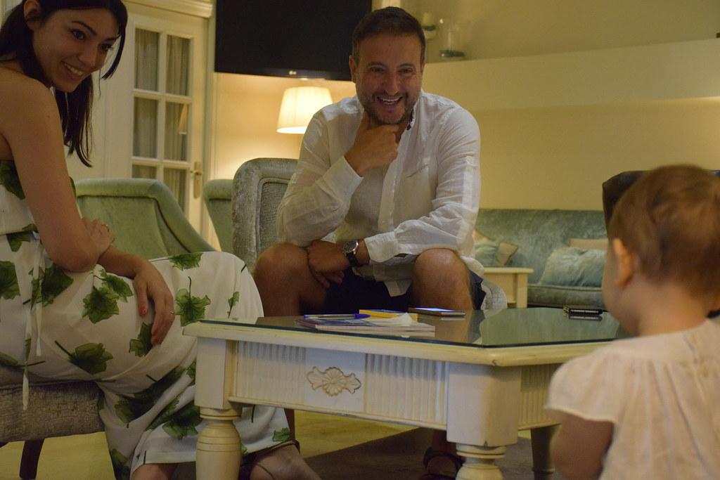 Entrevistando a Carlos en un hotel de Ronda, Málaga.