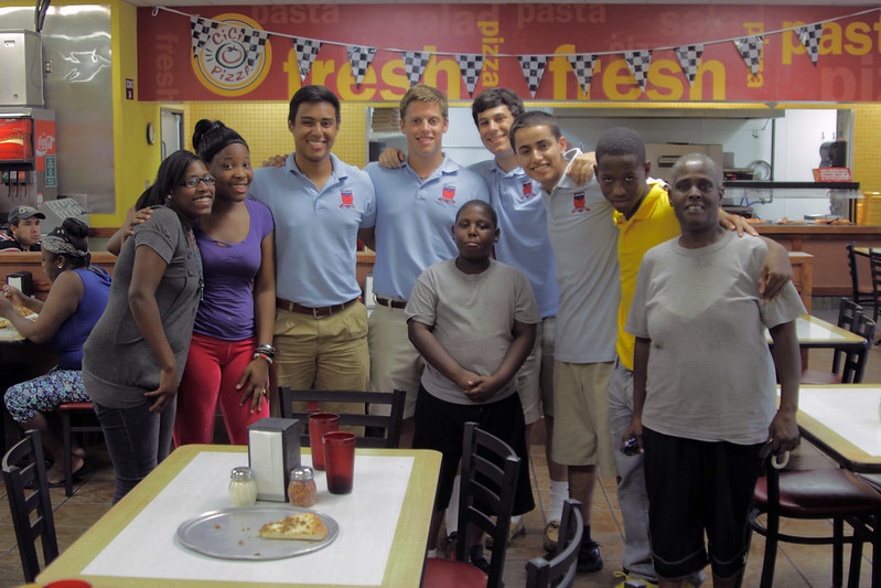 Bishop Dunne High School Seniors with the Parson Family Sept. 2012