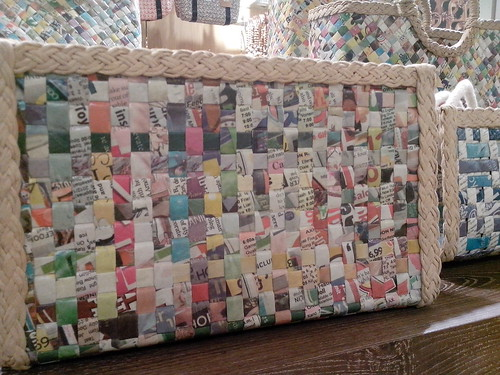 Crafts for a Cause, bags made from newspapers