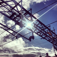 #train #station #sun shining thru #cloudporn #streetphotography #vagabond