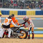 Chute De Marc Marquez Repsol Honda Team