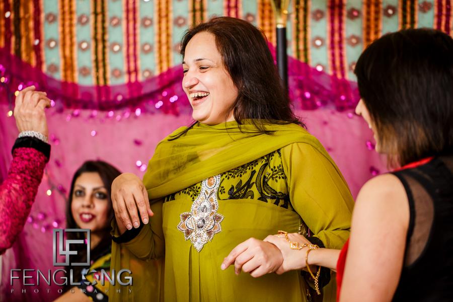 Laughter during mehndi