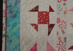 Upcycled Shoo Flies-quilting detail