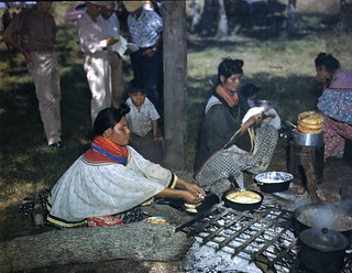 Women cooking during the annual cattle round-up: Big Cypress Reservation, Florida