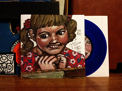 "Future Virgins / Toys That Kill - Split 7"" - Blue Vinyl (/100) by Tim PopKid"
