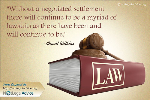 Quotographics on Negotiated Settlement