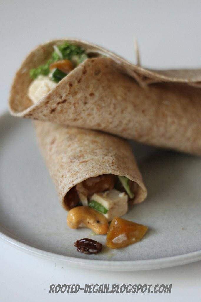 Mango Chutney Tofu Salad by rooted-vegan.blogspot.com