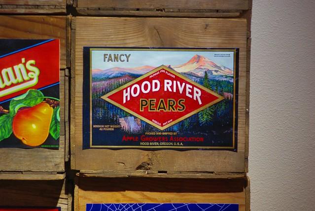 果樹のための木箱 HOOD RIVER PEARS