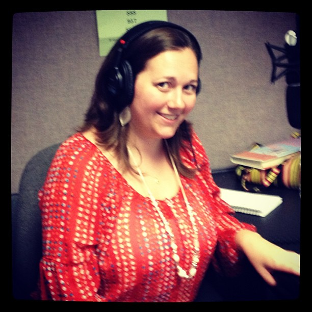 Talking on NPR about summer adventures with kids...Not sure what's with the crazy look on my face but yeah... #npr