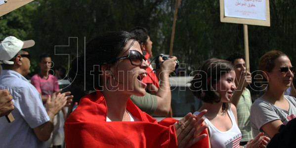 Women's Day demonstration, August 2012. Photo credit: Tunisia Live