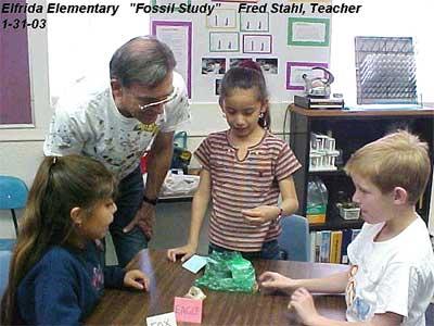 Elfrida Elementary, Fossil Study, January 31, 2003