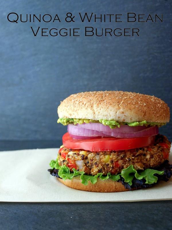 Quinoa & White Bean Veggie Burger...It's burger time!