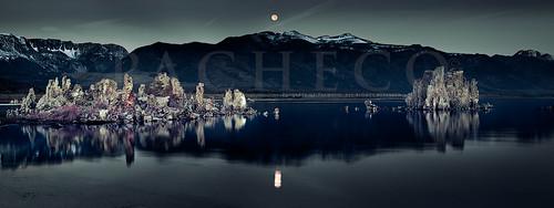 October Moon Set, Mono Lake Ca