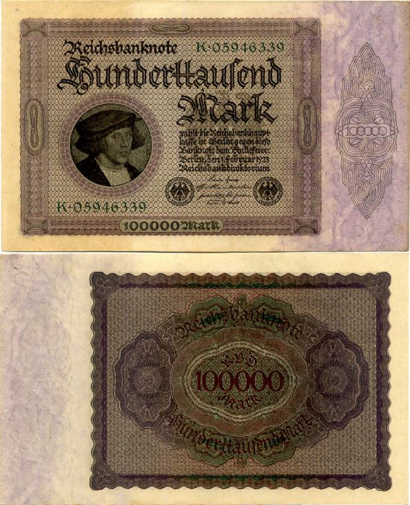 100 000 Mariek Nemecko 1923, Pick 83