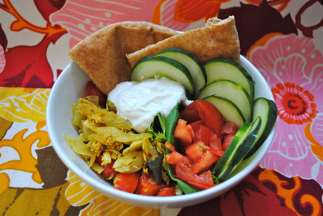 coconut curry pita bowl