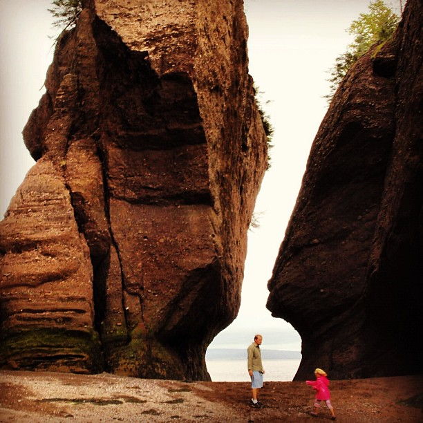 The Hopewell Rocks on the Fundy Coast of  New Brunswick really demonstrate the power of the world's highest tides.