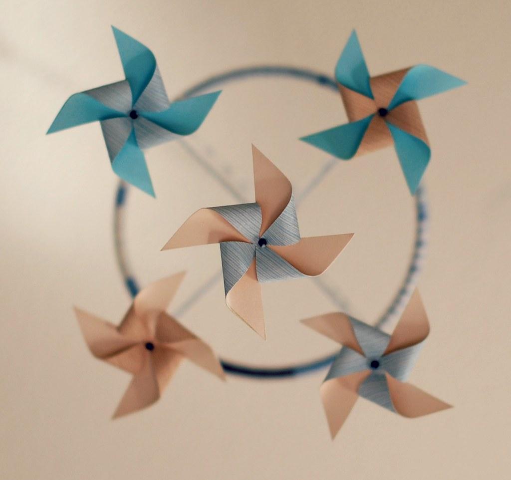 diy pinwheel cot mobile