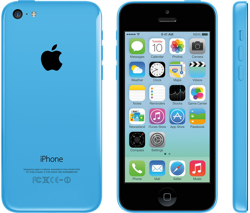 iPhone 5c 実物大の製品画像