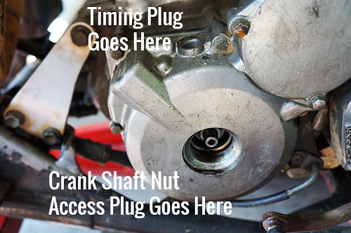 Remove Timing Plug and Crank Shaft Nut Access Plug