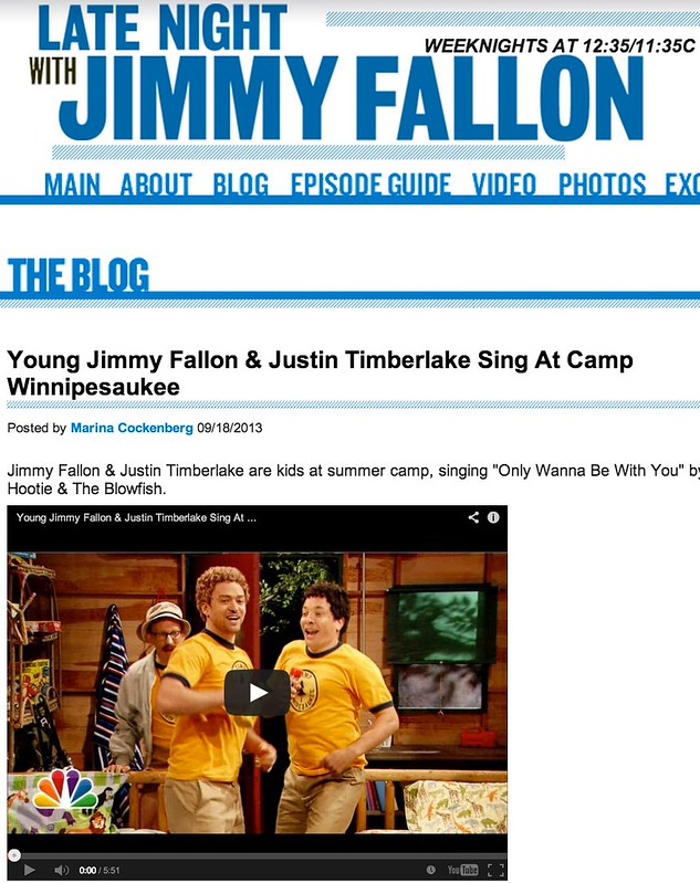 Young Jimmy Fallon & Justin Timberlake Sing At Camp Winnipesaukee - Show Guests - Late Night with Jimmy Fallon