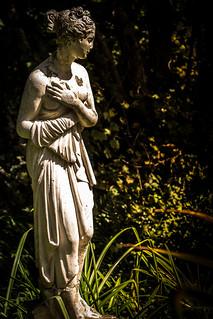 Statue needing care.
