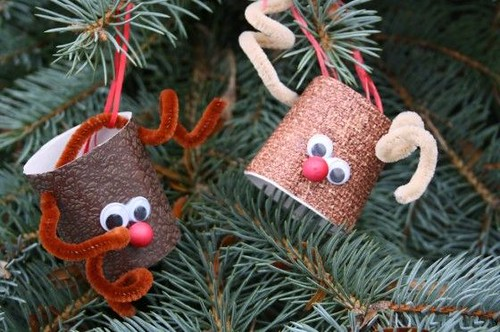 kids christmas craft, christmas toilet paper roll craft, reindeer craft