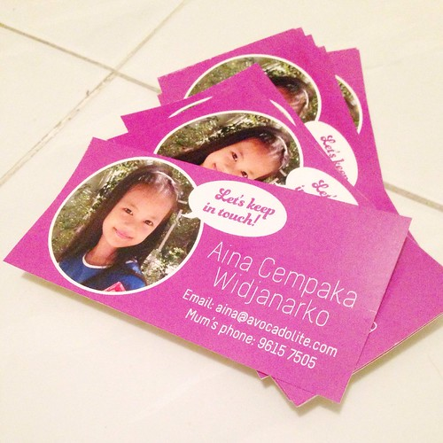 making keep-in-touch card stickers