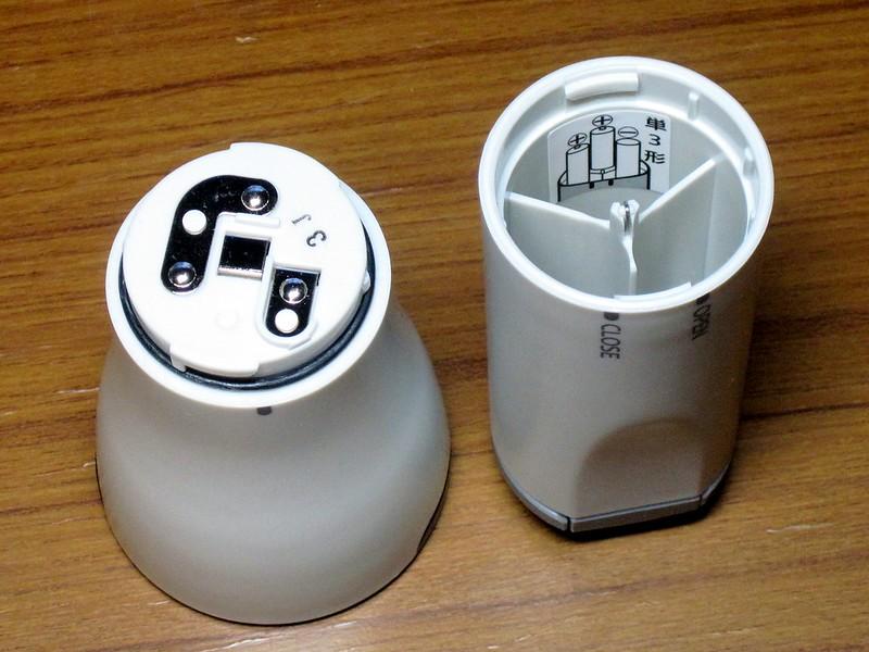 パナソニック LED懐中電灯 BF-BG20F(電池室)