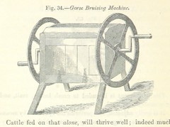 """British Library digitised image from page 88 of """"Farming Implements, their various uses and recent modern improvements compared with the old machines. By F. D. P"""""""